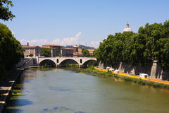 Tiber River Rome Italy Stock Photography
