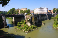 Tiber River Rome Italy Royalty Free Stock Images