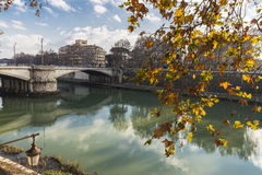 Tiber River in Rome, Italy Royalty Free Stock Images