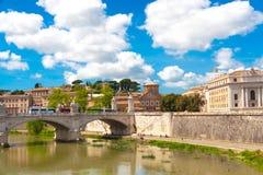 Tiber river in Rome, Italy Stock Image