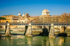 Tiber river in Rome, Italy Stock Images