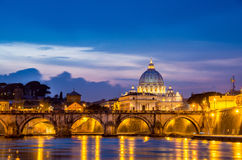 Tiber river in Rome Italy Stock Images