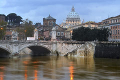 Tiber River and St. Peter Stock Photo