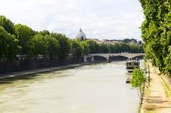 Tiber river Stock Photos