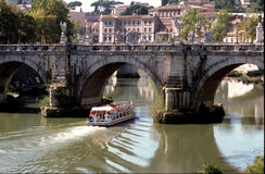 Tiber in Rome Stock Photo