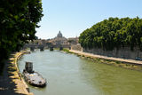 Tiber in Rome by day with the Vatican Stock Photos