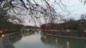 Tiber rzeka Zdjęcia Royalty Free