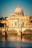 Tiber and St. Peter's cathedral, Rome Royalty Free Stock Photo