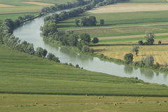 Tiber valley near Rome Stock Photo
