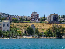 Tiberias - city on the hill on the shore of the Sea of Galilee, Israel Royalty Free Stock Photo