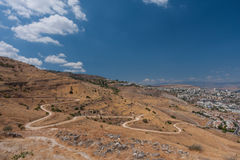 Tiberias - city in Israel on shores of Kinneret Stock Image