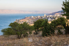 Tiberias city town and Kineret Galilee sea view. Stock Photography