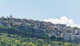 Tiberias, Israël - Maart 31, 2018: Straatmening in de oude stad van Tiberias Israël Royalty-vrije Stock Foto's