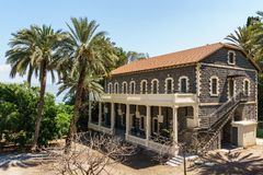 Tiberias, Israel - March 31, 2018: Building view in the old city of Tiberias Israel. Tiberias, Israel - March 31, 2018: Building view in the old city of royalty free stock photo