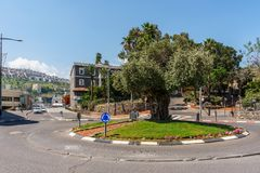 Tiberias, Israel - March 31, 2018: Street view in the old city of Tiberias Israel. Tiberias, Israel - March 31, 2018: Street view in the old city of Tiberias stock image