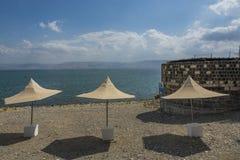 Tiberias swimming beach Stock Photos