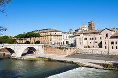 Tiberina Insel in Rom, Italien Lizenzfreies Stockbild