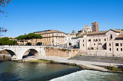 Tiberina Island in Rome, Italy Royalty Free Stock Image