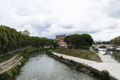 Tiberina Island, Rome, Italy. Stock Image