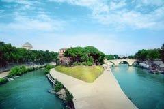 Tiberina island. View of Tiberina island in Rome, Italy Stock Image