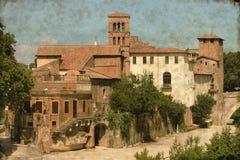 Tiberina wyspa w Rzym - rocznik Fotografia Royalty Free