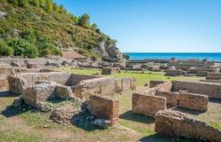 Tiberio ` s willa, rzymskie ruiny blisko Sperlonga, Latina prowincja, Lazio, środkowy Włochy Obraz Royalty Free
