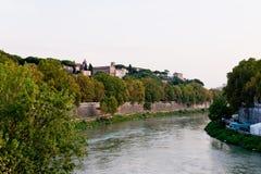 Tiberis Fluss lizenzfreie stockfotos
