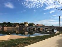 Tiberius-Brücke Stockfotos