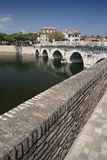 The Tiberius Bridge Stock Images