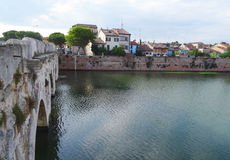 Tiberius Bridge, Rimini, Italy Stock Photos