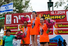 Tiberius Marathon Podium Stock Images