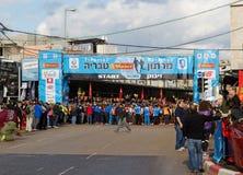 Tiberius Marathon before that Start. Tiberius Marathon 2013 few seconds before the Start Stock Photo