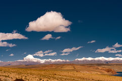 Tibet. Here is the Kailash - holy mountain of Tibet. Sacred place for buddhist, hindu, jains and adepts of bon royalty free stock photography