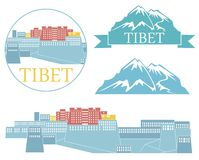 tibet illustration libre de droits
