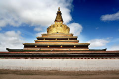 Tibet. A grand temple in tibet stock photo