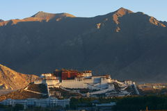 Tibet. The Budala palace is representative  architecture in tibet Stock Photography