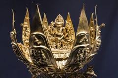 Tibet mandala artwork. Tibet artwork, tibet golden mantala stock photo