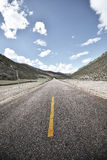 Tibet asphalt road Royalty Free Stock Photos