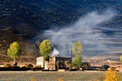 Tibet autumn. Beautiful autumn chanxi xin du qiao Stock Photography