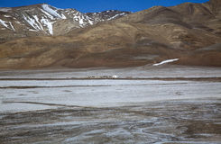 Tibet. The big mountains in tibet from the window train Royalty Free Stock Images