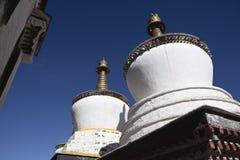 Tibet: buddhas stupa Stock Photo