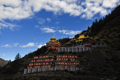 Tibet-  Buddhism academy. This is a famous Buddhism academy  in Tibet Stock Images