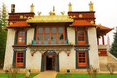 Tibet Building. Typical style luxury building Tibet Stock Photo