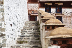 Tibet: building in potala palace Stock Image