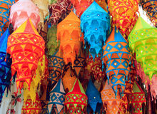 Tibet color chandelier Stock Photography