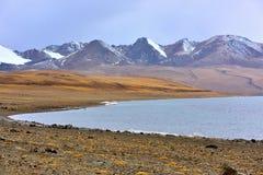 Tibet Ddjia lake snow mountain lake Royalty Free Stock Image