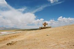 Tibet, de kleine tempel. Royalty-vrije Stock Afbeelding
