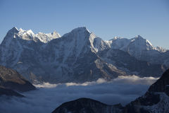 Tibet, die Schneespitzen Lizenzfreie Stockbilder