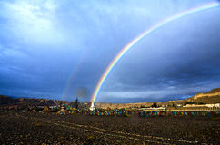 Tibet double rainbow Royalty Free Stock Photography