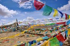 Tibet-Fahne Stockfoto